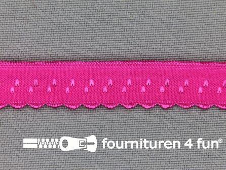 Luxe elastische biasband 12mm fuchsia