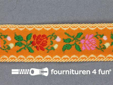 Folklore band 24mm oranje