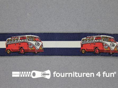 Kinderband 17mm donker blauw - VW bus