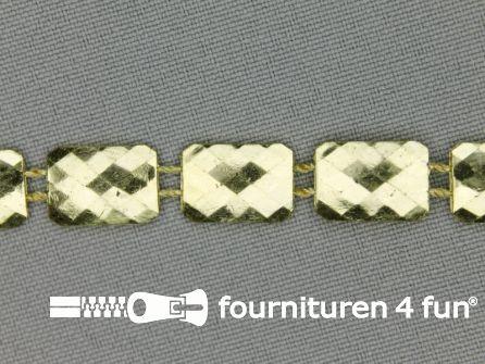 Strass band 10mm rechthoek goud