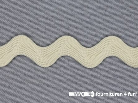 Zigzag band 15mm licht beige