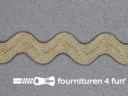 Zigzag band 15mm midden beige