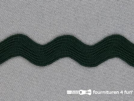 Zigzag band 15mm flessen groen