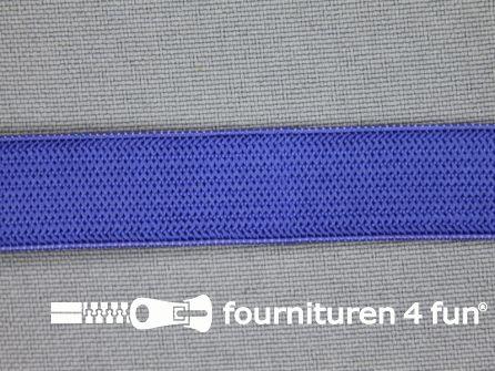 Gekleurd soepel elastiek 14mm kobalt blauw