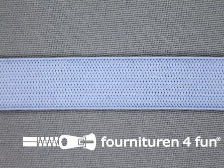 Gekleurd soepel elastiek 14mm licht blauw