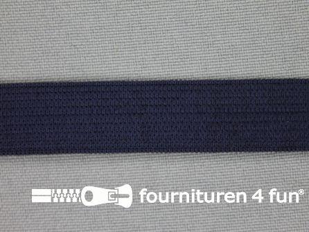 Gekleurd soepel elastiek 14mm donker blauw