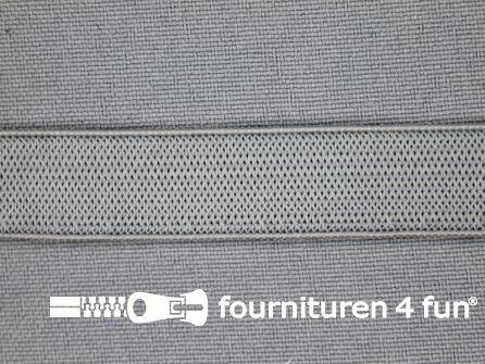 Gekleurd soepel elastiek 14mm grijs