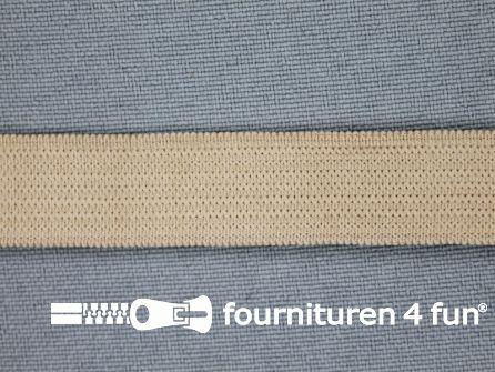 Gekleurd soepel elastiek 14mm beige