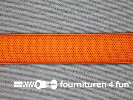 Gekleurd soepel elastiek 14mm oranje