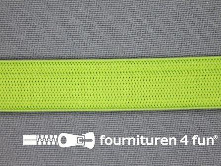 Gekleurd soepel elastiek 14mm licht groen