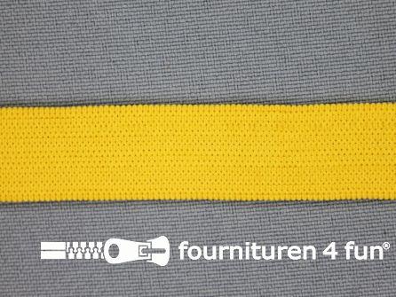 Gekleurd soepel elastiek 14mm geel