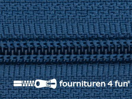 Deelbare spiraal rits 6mm met 2 schuivers jeans blauw