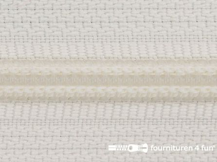 Deelbare spiraal rits 6mm met 2 schuivers off white