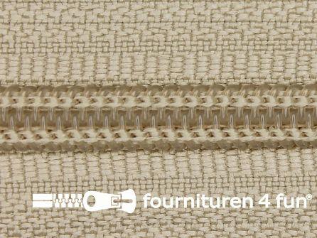 Deelbare spiraal rits 6mm met 2 schuivers beige