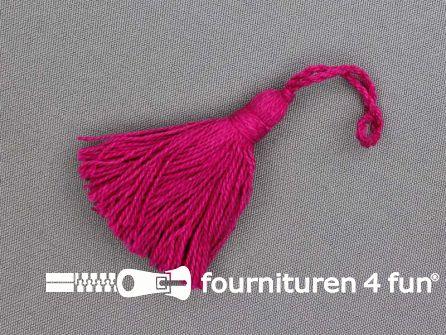 Kwastje 50mm fuchsia roze