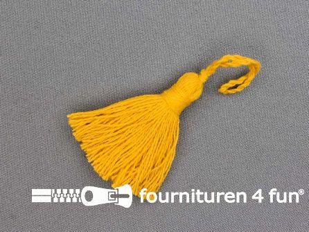 Kwastje 50mm geel
