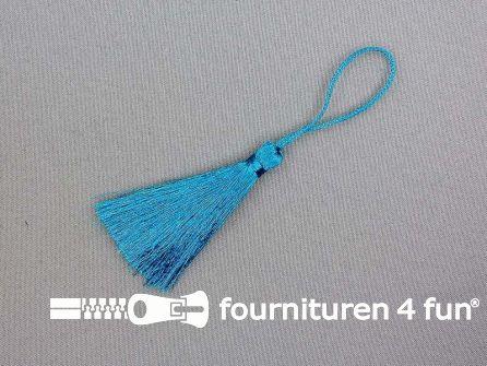 Kwast 75mm aqua blauw