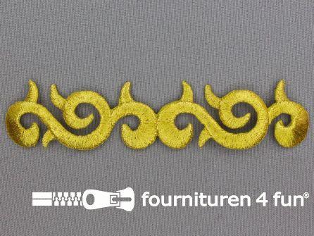 Barok applicatie 115x25mm goud