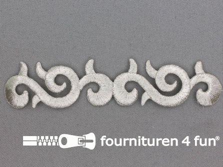 Barok applicatie 115x25mm zilver