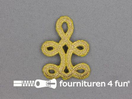 Barok applicatie 35x45mm goud