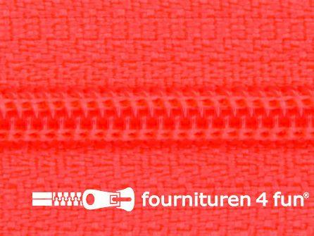 Niet deelbare nylon rits 3mm neon oranje - roze