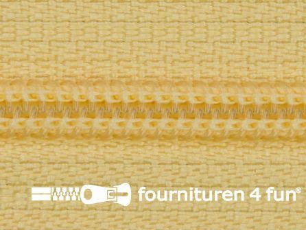Niet deelbare nylon rits 3mm zacht geel
