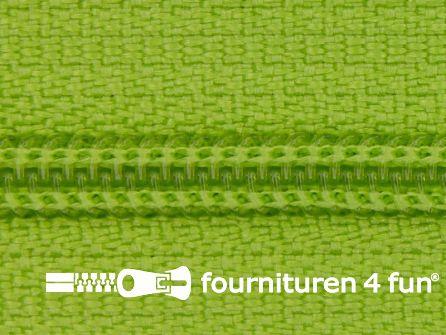 Niet deelbare nylon rits 3mm lime groen
