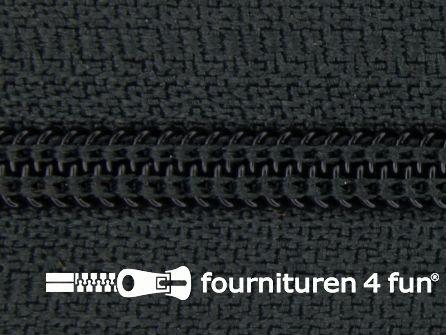Niet deelbare broek rits nylon 4mm donker grijs