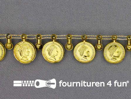 Muntenband 15mm goud
