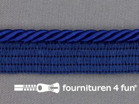 Gedraaid paspelband 18mm kobalt blauw