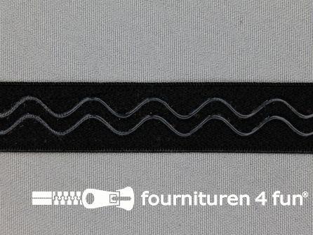 Siliconen elastiek 20mm zwart