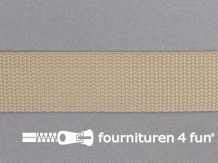 Rol 50 meter PP (polypropyleen) band 30mm zand beige
