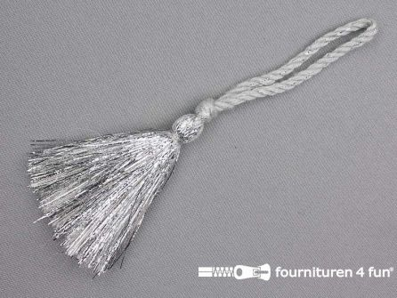 Kwast 80mm zilver grijs met lurex