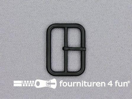 Metalen gesp 25mm mat zwart