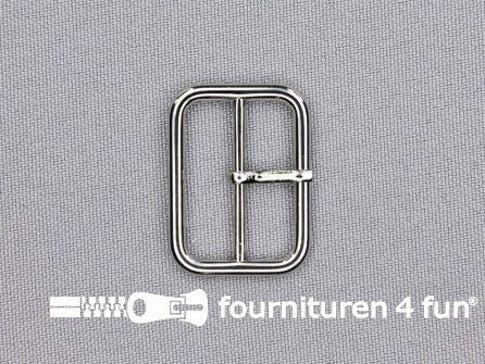 Metalen gesp 25mm zilver