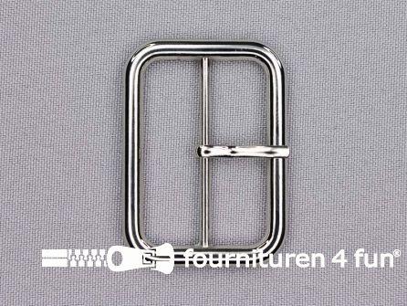 Metalen gesp 40mm zilver