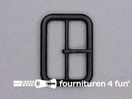 Metalen gesp 40mm mat zwart