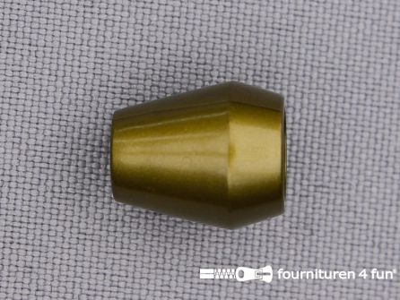 Kunststof koord uiteinde 12x14mm mat brons