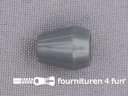 Kunststof koord uiteinde 12x14mm grijs