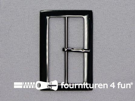 Metalen gesp 48mm glimmend zwart