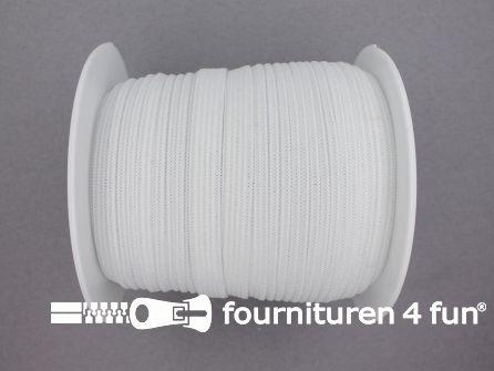 Rol 25 meter soepel elastiek 8mm wit