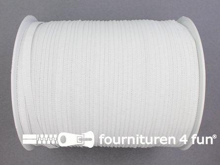 Rol 200 meter soepel elastiek 6mm wit