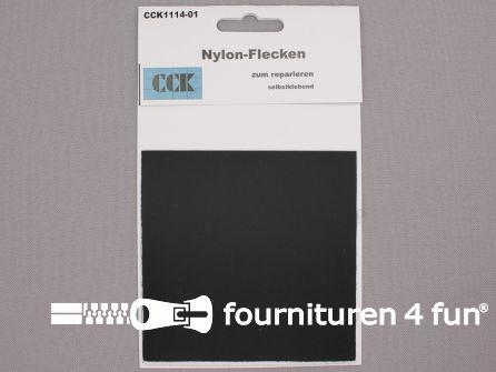 Zelfklevend nylon reparatiedoek 10x20cm zwart