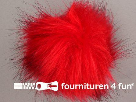 Bont pompon 12cm rood