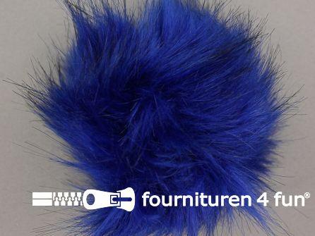 Bont pompon 12cm konings blauw