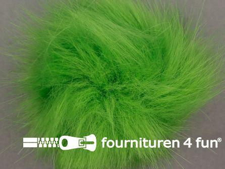 Bont pompon 12cm lime groen