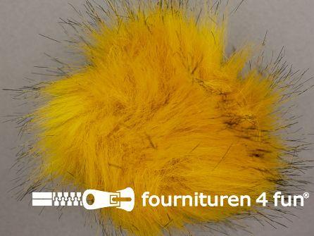 Bont pompon 12cm geel