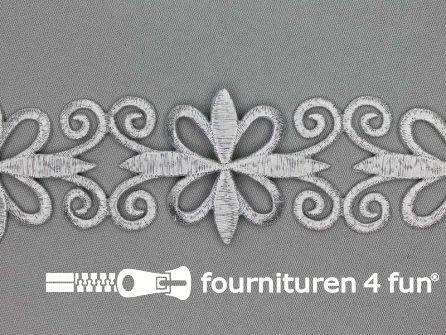 Zilver applicatie band 47mm - per meter