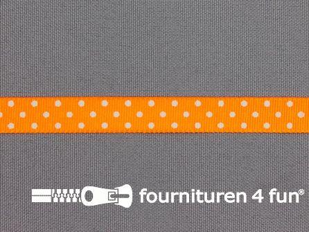 Bolletjes lint 10mm neon oranje