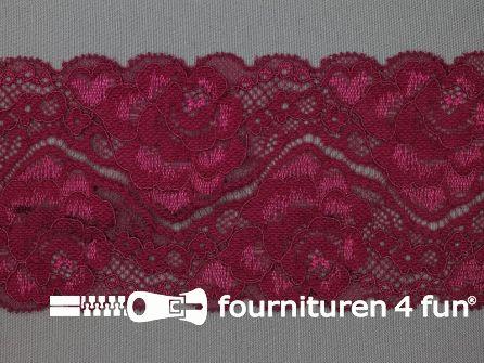 Elastisch kant 80mm bordeaux rood